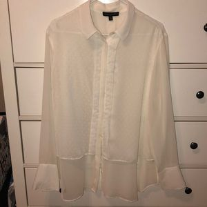 Banana Republic XL cream sheet blouse